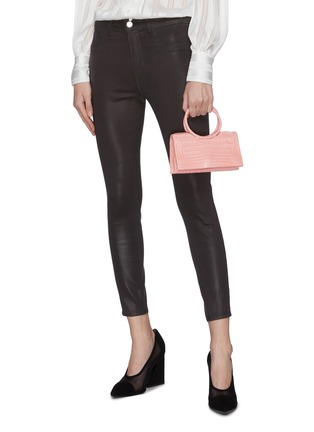 Figure View - Click To Enlarge - NANCY GONZALEZ - Ring handle crocodile leather mini shoulder bag
