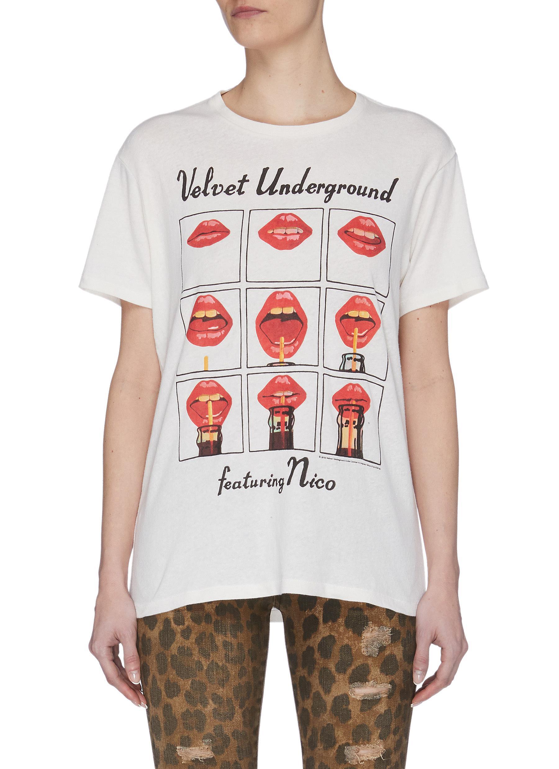 shop R13 'Velvet Underground' Lips Graphic Print T-shirt online