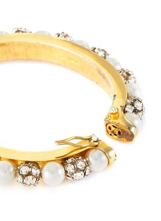 Detail View - Click To Enlarge - LANE CRAWFORD VINTAGE ACCESSORIES - Diamante pearl bracelet