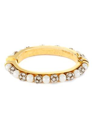 Main View - Click To Enlarge - LANE CRAWFORD VINTAGE ACCESSORIES - Diamante pearl bracelet