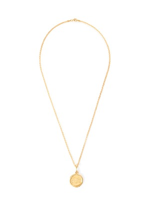 Main View - Click To Enlarge - HOLLY RYAN - 'Your Sign' zodiac 18k gold-plated necklace