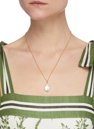 Figure View - Click To Enlarge - HOLLY RYAN - 'Misshapen Beauty' keshi pearl 9k gold-plated necklace
