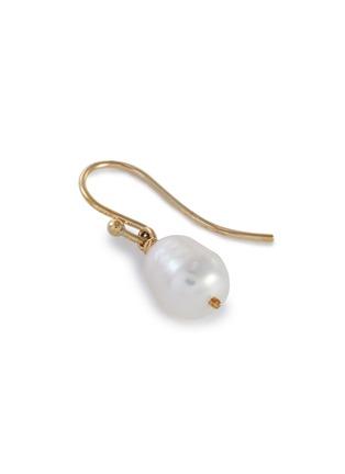 Detail View - Click To Enlarge - HOLLY RYAN - Shepherds hook pearl 9k gold earrings