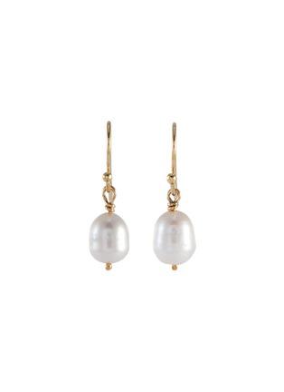 Main View - Click To Enlarge - HOLLY RYAN - Shepherds hook pearl 9k gold earrings