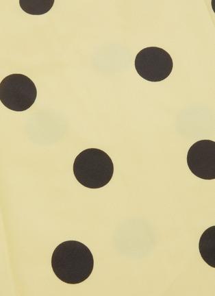 - DE LA VALI - 'Caroline' polka dot flared satin midi skirt