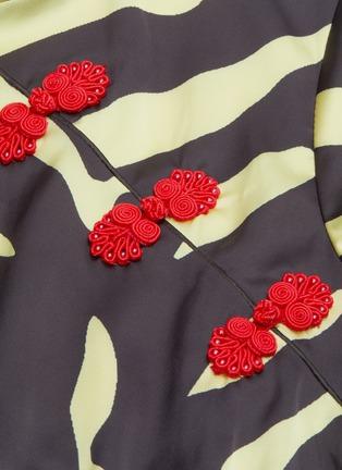 - DE LA VALI - 'Suki' tiger print oriental collar satin mini dress