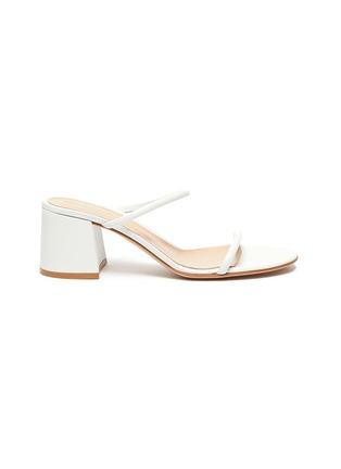 Main View - Click To Enlarge - GIANVITO ROSSI - Block heel leather sandals