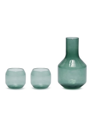 Main View - Click To Enlarge - R+D LAB - Velasca Carafe and Acqua Glass set – Slate Green