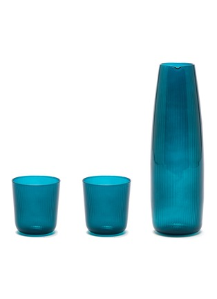 Main View - Click To Enlarge - R+D LAB - Luisa Carafe and Vino Glass Set – Antwerp Blue