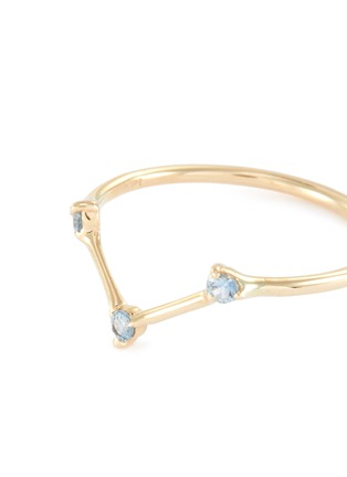 Detail View - Click To Enlarge - WWAKE - 'Three-Step Triangle' sapphire 14K yellow gold ring