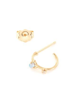 Detail View - Click To Enlarge - WWAKE - 'Two Step' diamond opal 14k gold mini earrings