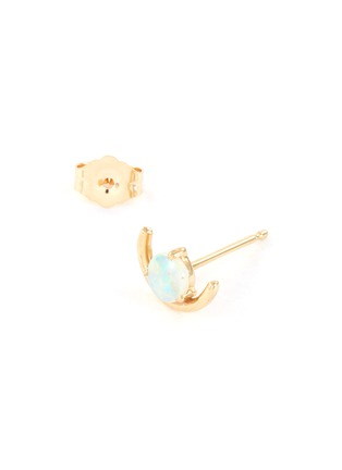 Detail View - Click To Enlarge - WWAKE - Large opal arc 14K yellow gold stud earrings