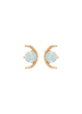 Main View - Click To Enlarge - WWAKE - Large opal arc 14K yellow gold stud earrings