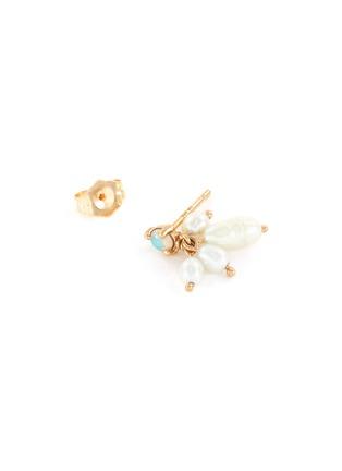 Detail View - Click To Enlarge - WWAKE - 'Cloudburst' opal seed pearls 14k gold earrings