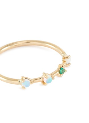 Detail View - Click To Enlarge - WWAKE - 'Four Step' emerald opal 14k gold ring