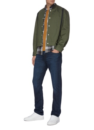 Figure View - Click To Enlarge - J BRAND - 'Tyler' dark wash whiskering jeans