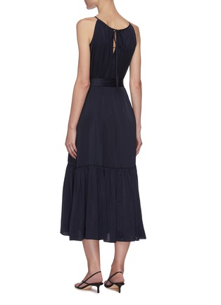 Back View - Click To Enlarge - EQUIL - Gathered halter neck tiered midi dress