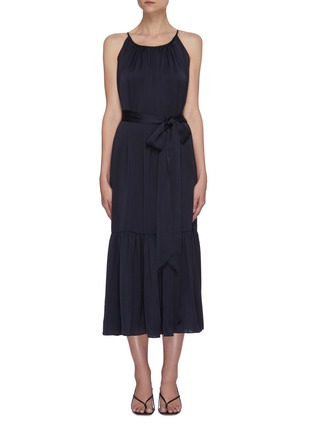 Main View - Click To Enlarge - EQUIL - Gathered halter neck tiered midi dress
