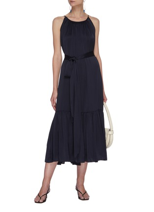 Figure View - Click To Enlarge - EQUIL - Gathered halter neck tiered midi dress