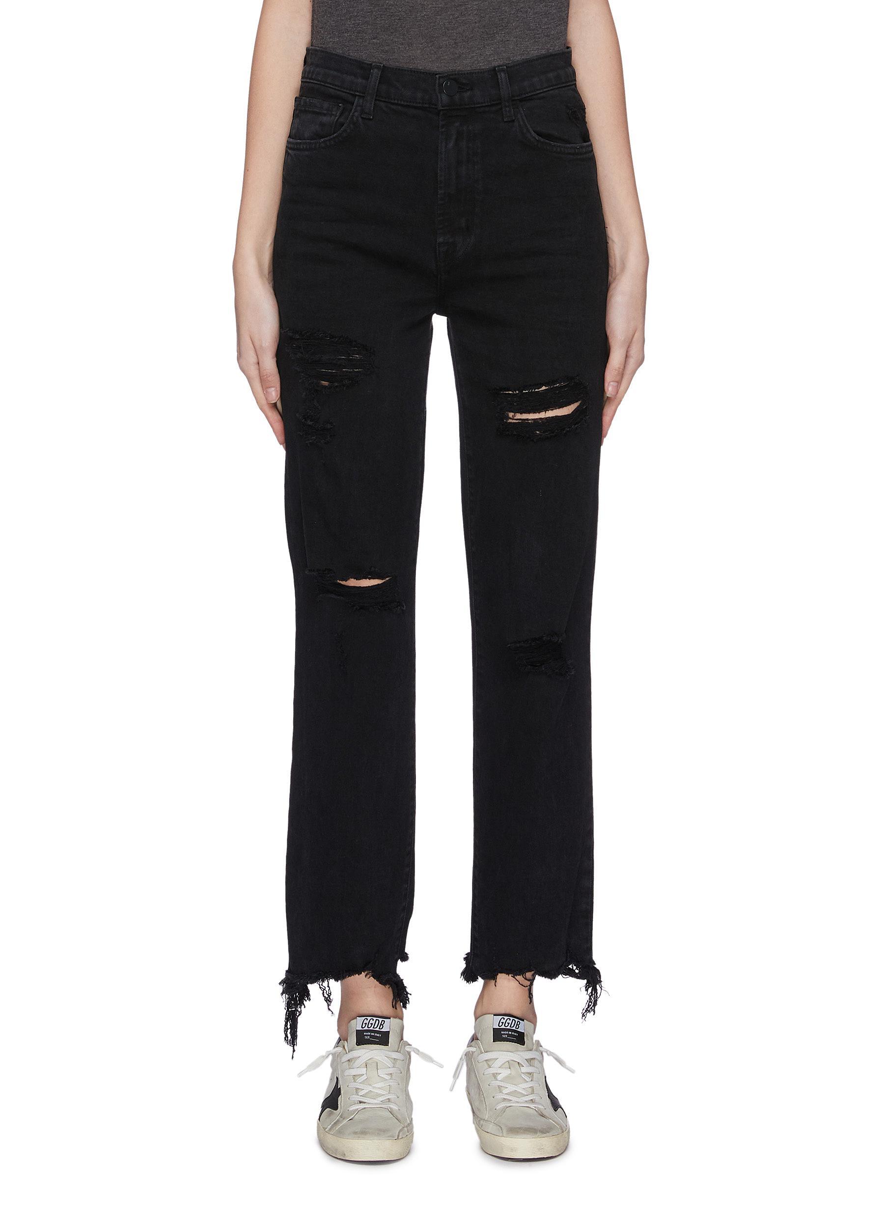 Buy J Brand Jeans 'Jules' ripped knee frayed hem jeans