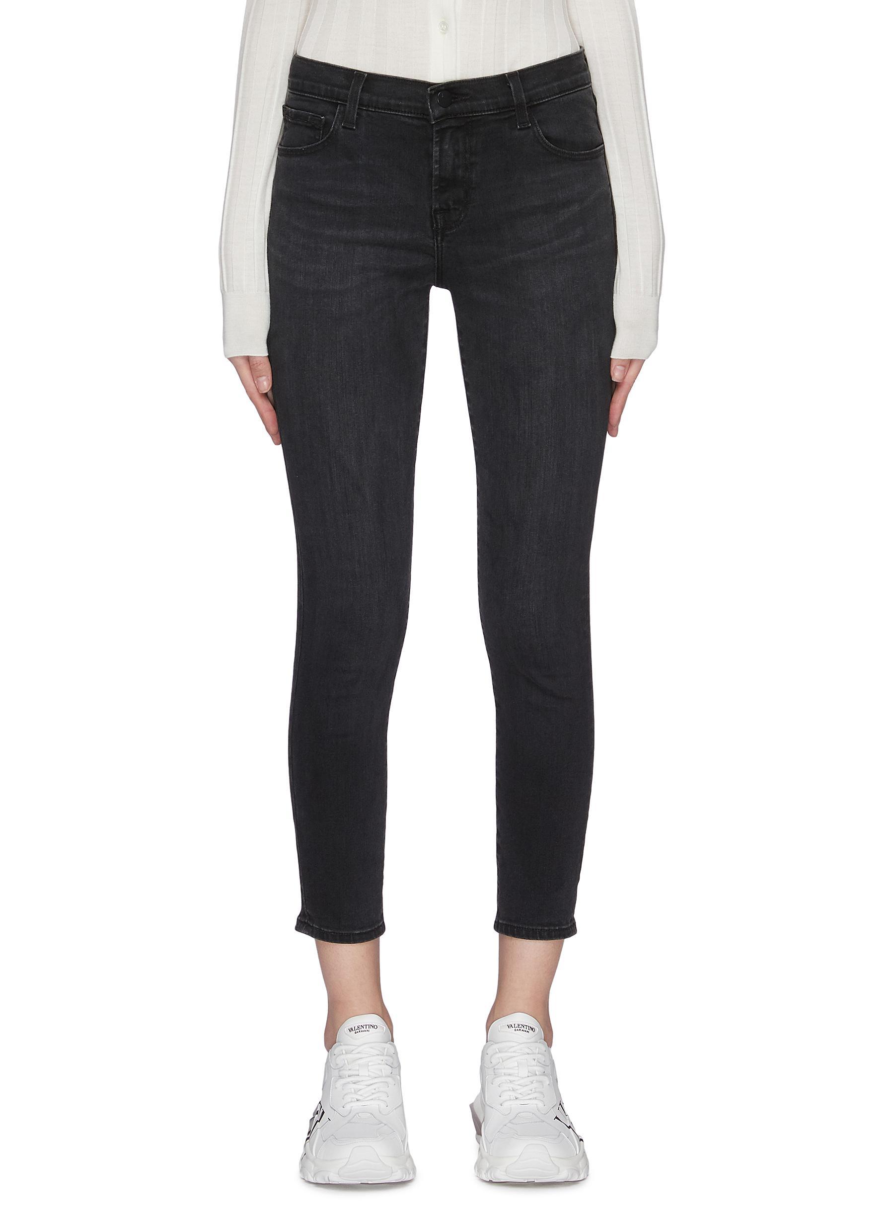 Buy J Brand Jeans '835' mid-rise dark wash crop skinny jeans