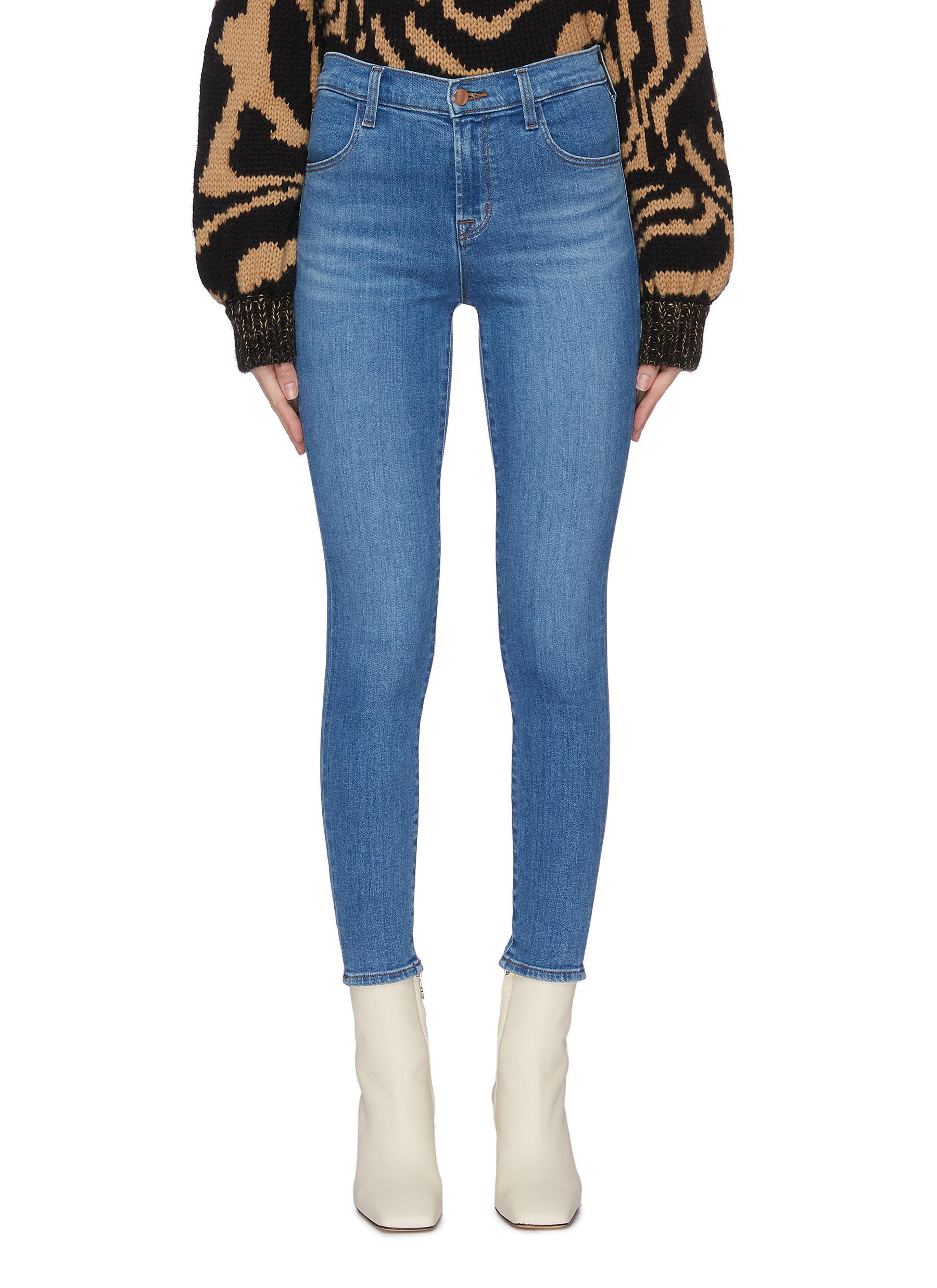 Buy J Brand Jeans 'Alana' whiskering crop skinny jeans