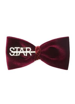 Main View - Click To Enlarge - VENNA - 'Star' velvet bow hair clip