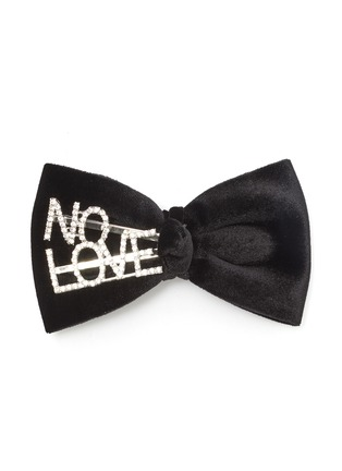 Main View - Click To Enlarge - VENNA - 'No Love' velvet bow hair clip