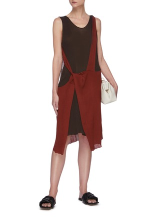 Figure View - Click To Enlarge - BOTTEGA VENETA - Twisted ribbed knit dress