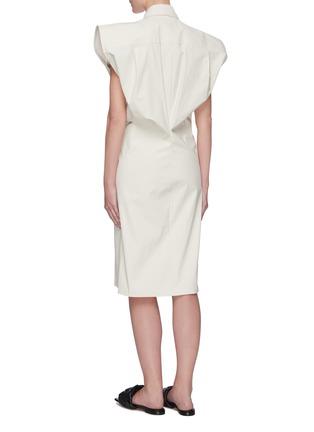 Back View - Click To Enlarge - BOTTEGA VENETA - Bat wing toile shirt dress