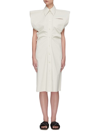 Main View - Click To Enlarge - BOTTEGA VENETA - Bat wing toile shirt dress