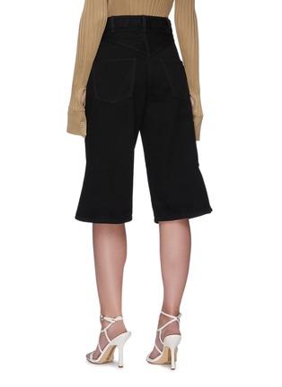 Back View - Click To Enlarge - BOTTEGA VENETA - Denim loop culotte pants