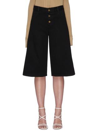 Main View - Click To Enlarge - BOTTEGA VENETA - Denim loop culotte pants