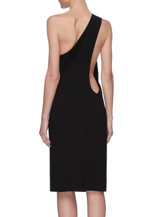 Back View - Click To Enlarge - BOTTEGA VENETA - One shoulder twisted dress
