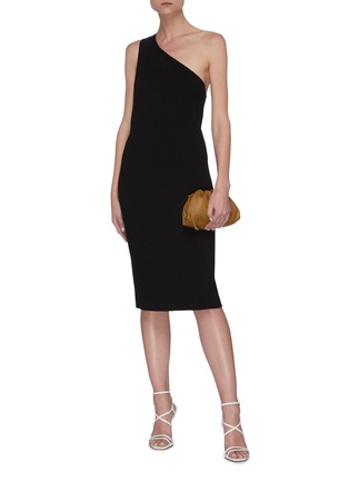 Figure View - Click To Enlarge - BOTTEGA VENETA - One shoulder twisted dress