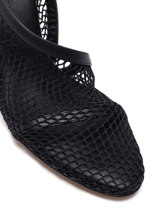 Detail View - Click To Enlarge - BOTTEGA VENETA - Chunky chain embellished mesh pumps
