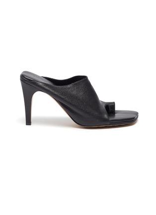 Main View - Click To Enlarge - BOTTEGA VENETA - Runway toe leather mules