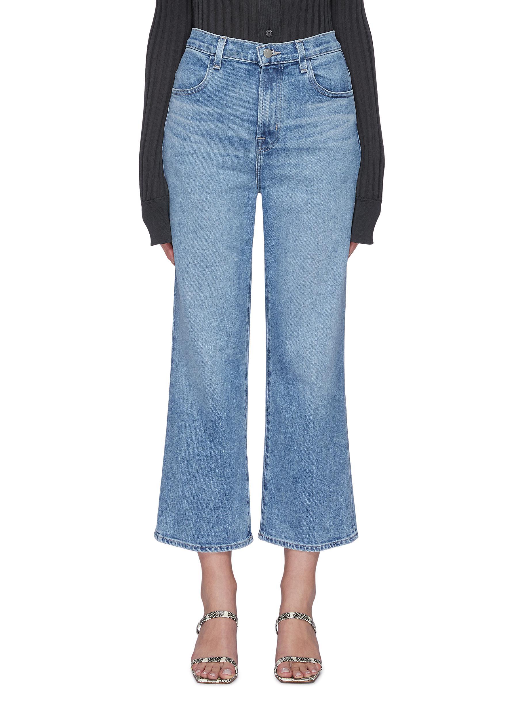 shop J Brand 'Joan' Crop Wide Leg Jeans online