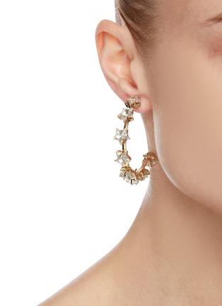 Figure View - Click To Enlarge - ROSANTICA - 'Milky Way' hoop earrings