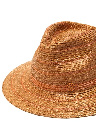 Detail View - Click To Enlarge - MAISON MICHEL - Rico' straw fedora hat