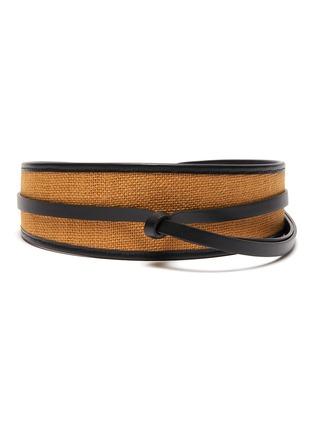 Main View - Click To Enlarge - MAISON BOINET - Corset Leather Belt