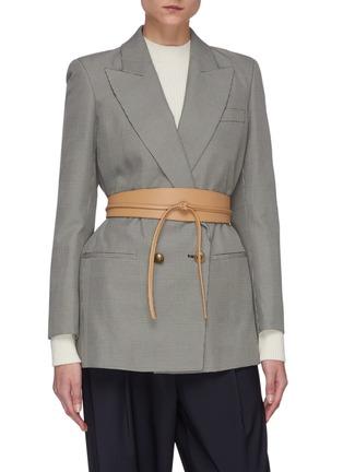 Figure View - Click To Enlarge - MAISON BOINET - Corset Leather Belt