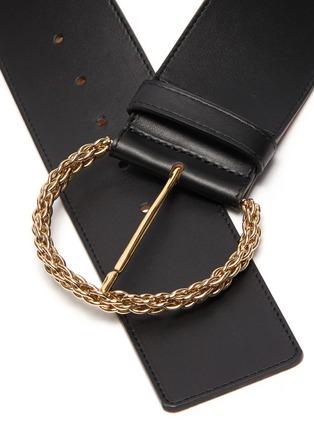 Detail View - Click To Enlarge - MAISON BOINET - Solder Chain Buckle Corset Belt