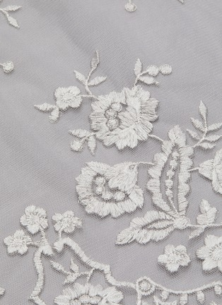 - NEEDLE & THREAD - 'Ashley' floral embroidered round neck tulle top