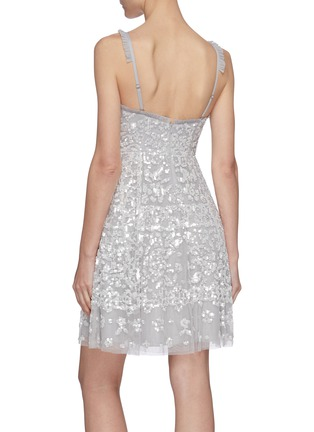 Back View - Click To Enlarge - NEEDLE & THREAD - Sequin embellished sleeveless mini dress