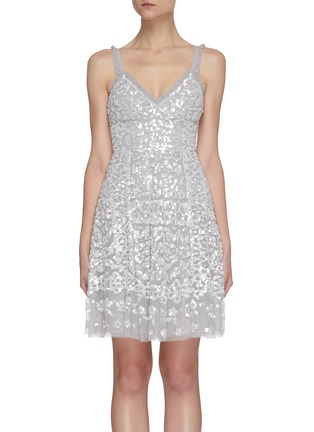 Main View - Click To Enlarge - NEEDLE & THREAD - Sequin embellished sleeveless mini dress