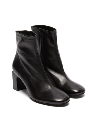 Detail View - Click To Enlarge - BY FAR - 'Vasi' block heel ankle leather boots