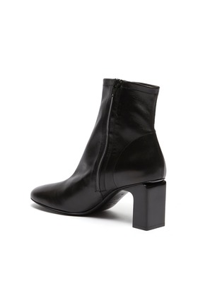 - BY FAR - 'Vasi' block heel ankle leather boots