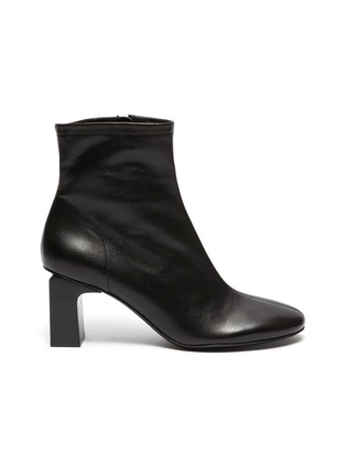Main View - Click To Enlarge - BY FAR - 'Vasi' block heel ankle leather boots