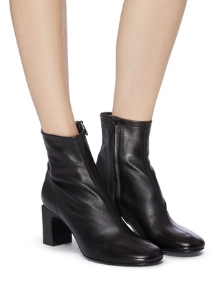 Figure View - Click To Enlarge - BY FAR - 'Vasi' block heel ankle leather boots